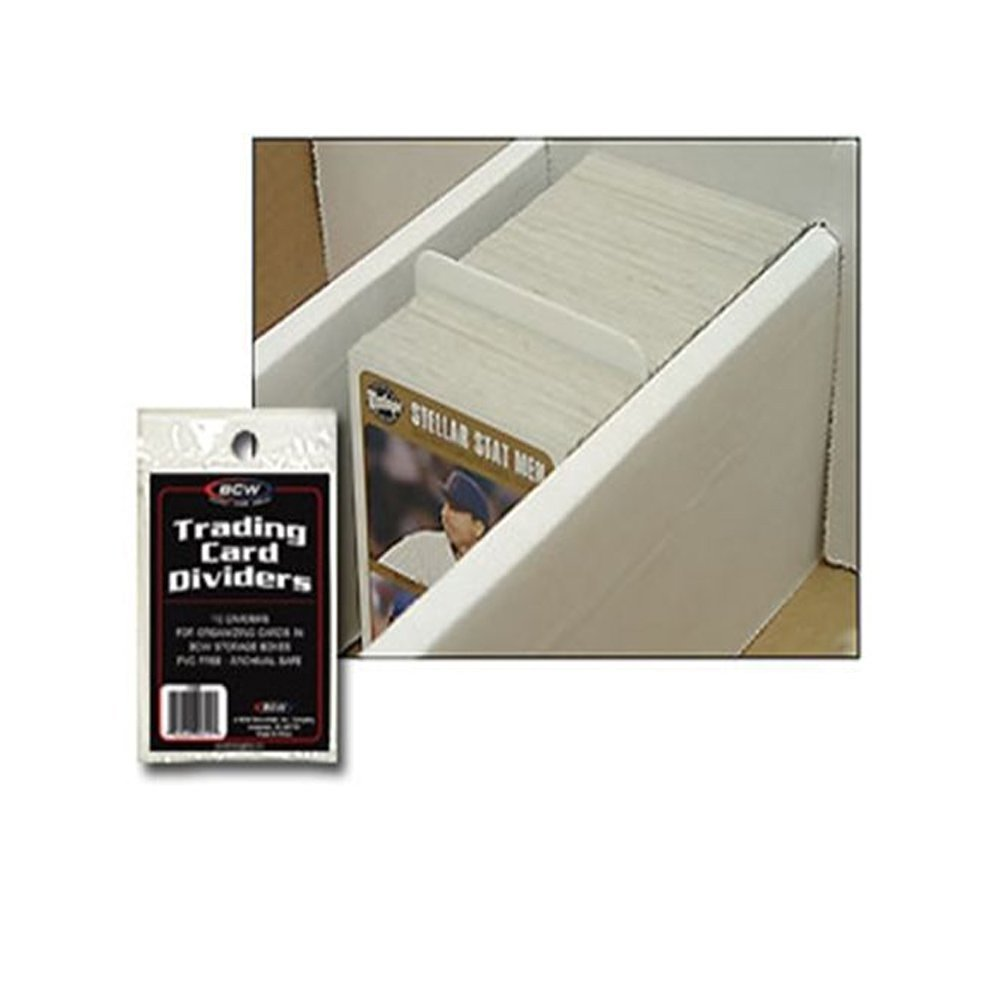 Quantity of 25 Packs, 250 Cards Total 10 Dividers per Pack BCW Trading Card Dividers