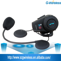 China Manufacturers Full-duplex 500m Motorcycle Helmet Bluetooth intercom Handsfree wireless interphone walkie talkie
