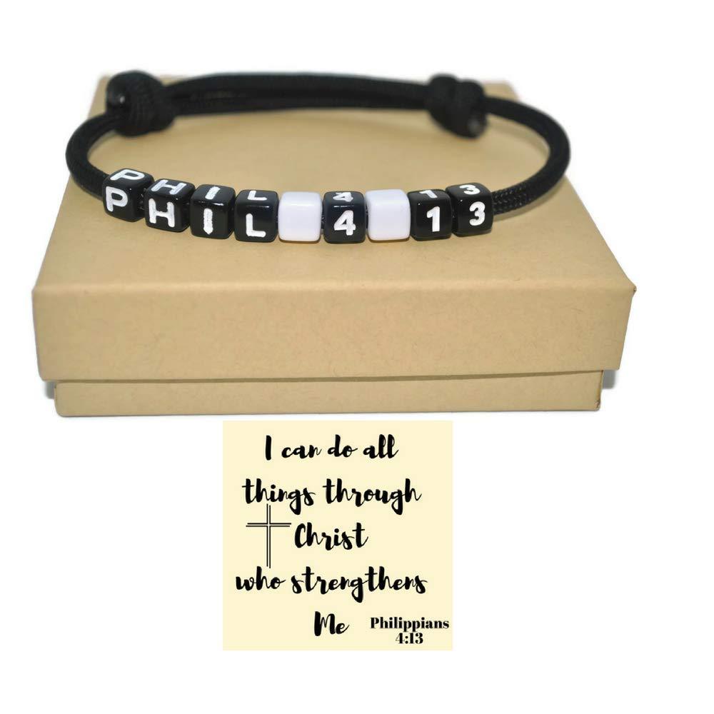 Philippians, Matthews or Jeremiah scripture paracord bracelet with note cards