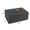 Black rigid decorative cardboard boxes with hinge lids