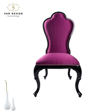 China factory antique Italian royal fabric seats living room wooden chair