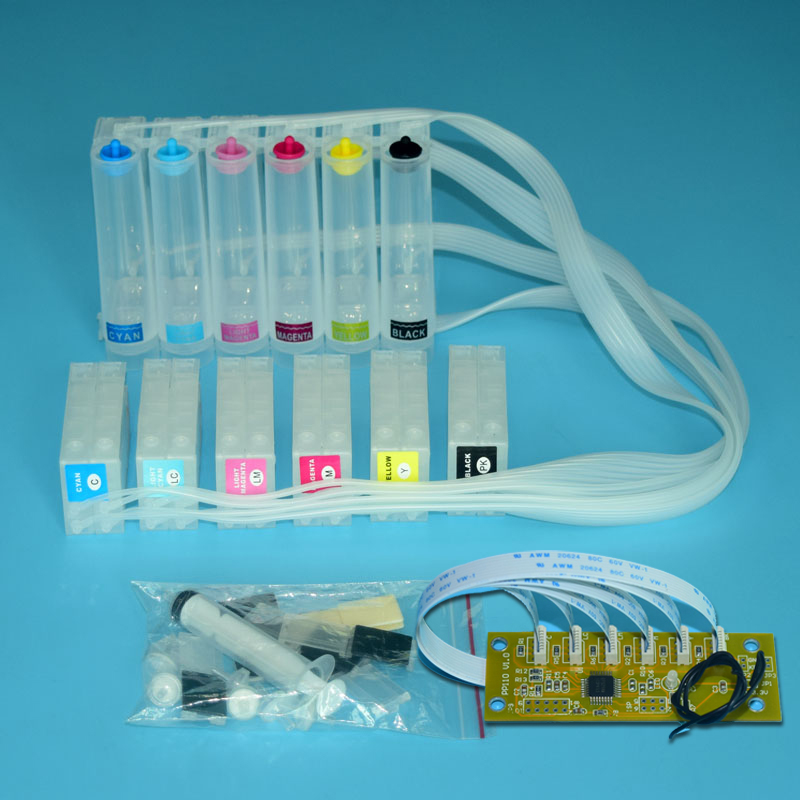 PP100 Ciss system with Chip Decoder For Epson Discproducer PP-100 PP-100N PP-100AP PP-100II CD DVD Dye Ink Printers