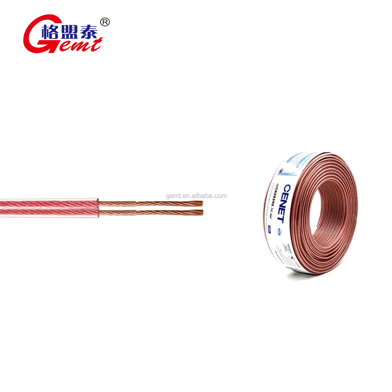 De gama alta de cable de altavoz de 4mm 3,5mm 2,5mm 2mm 1,5mm 12awg 14 awg 100 m 2 core Hola fin audiophile cable de altavoz