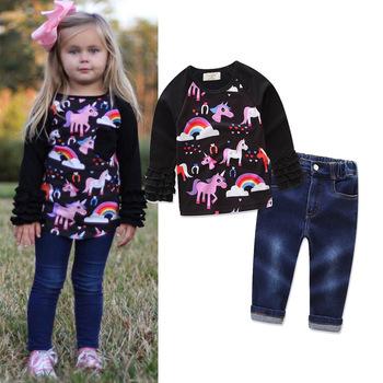 f4bdbca0c545 Ropa de moda para Niñas Ropa para niños de manga larga sudaderas con  capucha 2 unidades