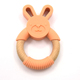 Cheap Wooden BPA free Silicone Teething Baby Teether