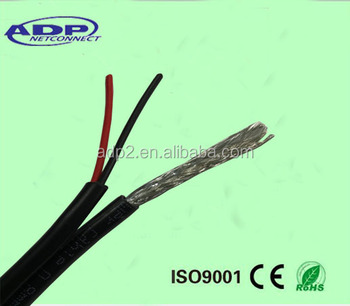 Hotsale Cctv Rg59 Coaxial Cable Rg6 Cable With 2 Core Power Cable 4 ...