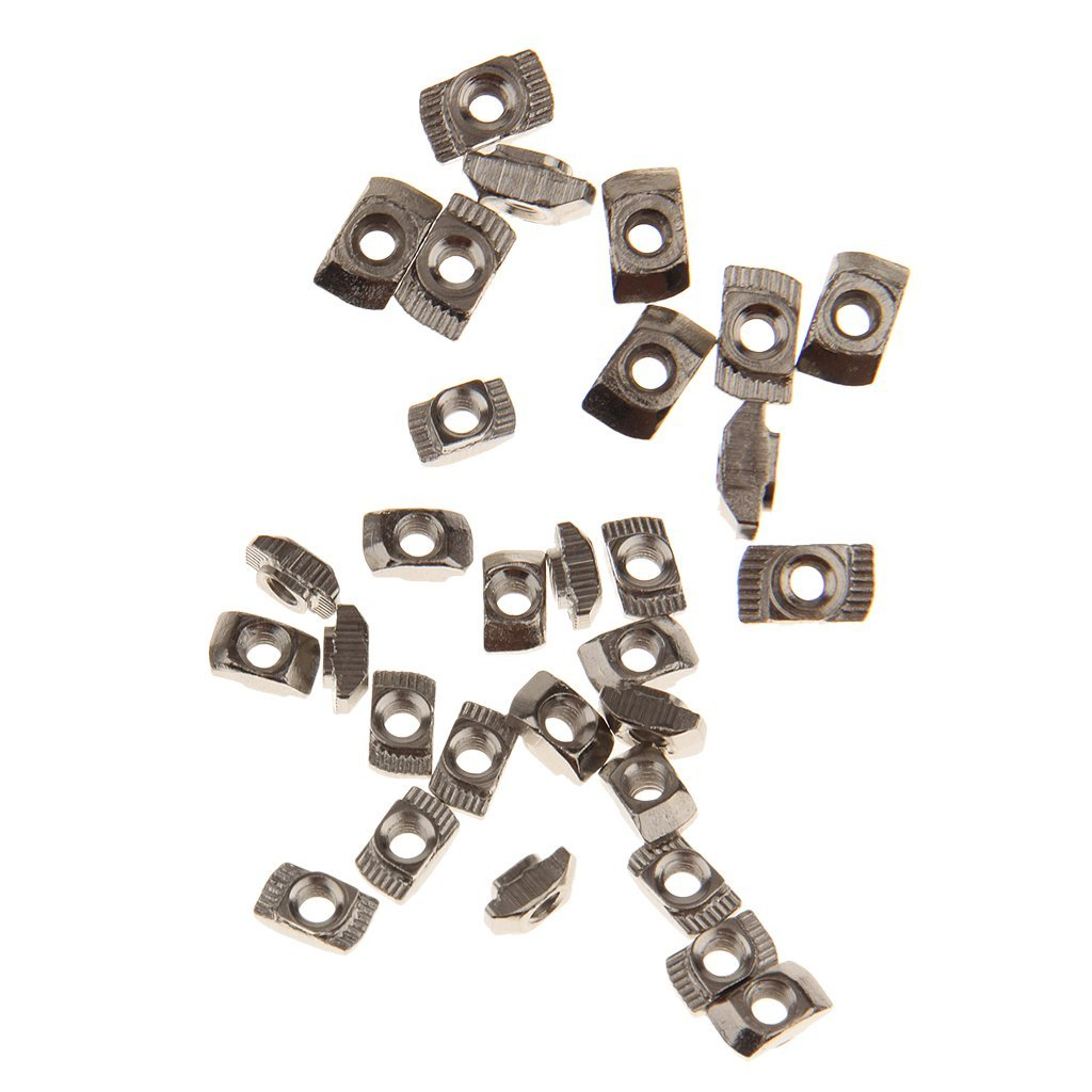 MonkeyJack 40pcs T Slot Nut Home Appliance Sliding Nut Block for 20 Series Profile M3 M4 Aluminum Frame