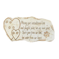 PAW PRINT PET MEMORIAL KEEPSAKE GRAVE STONE