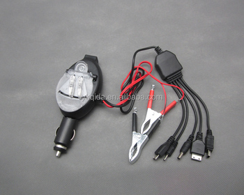 DC multiple battery clamp universal car charger