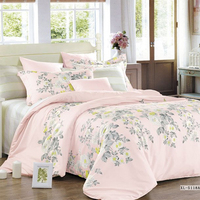 4 Piece 100% polyester Bedding Set embroidered Duvet Cover Sets bedding article