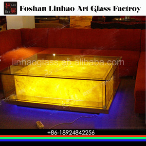Antique portable light up coffee table