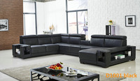 2016 Living Room Furniture Latest Design Sofa Set1001 black (1)