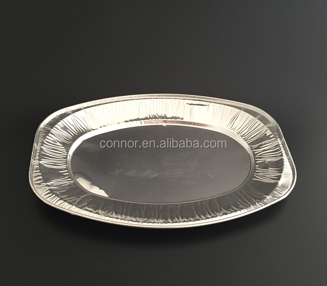 14 Inch Oval Shape Heavy Duty Disposable Aluminum Foil