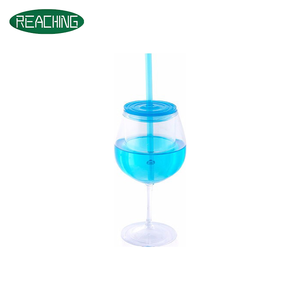 OEM Drinking Customized Promotional Straw Wine Cup Mug Goblet