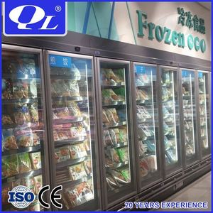 Fruit and Vegetables Multi-deck Commercial Cabinet Cooler dc power refrigerator