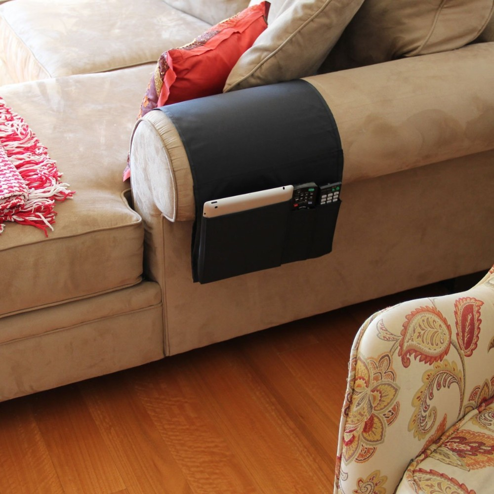 Sofa Couch Chair Armrest Caddy Pocket Organizer Great For Ipad Remote Controller