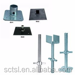 Construction building shuttering screw jacks for scaffolding