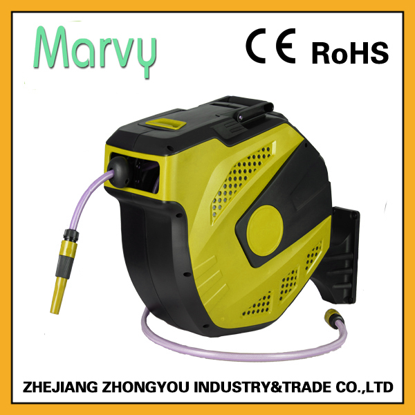 Automatic Flat Water Commercial Garden Hose Reel 25m