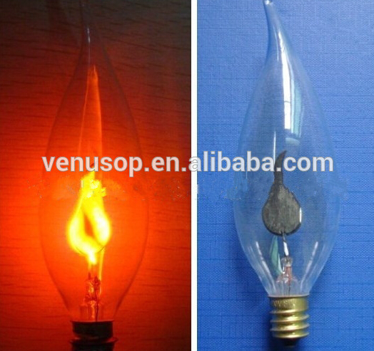 Classical C32 Flicker Fame Candle Light Bulbs 3W , High Quality E14 Led Flicker  Flame Candle