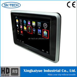 Car rear seat entertainment factory wholesale price 9 inch android bluetooth wifi 1080P DC 12V car headrest monitor for BMW e60