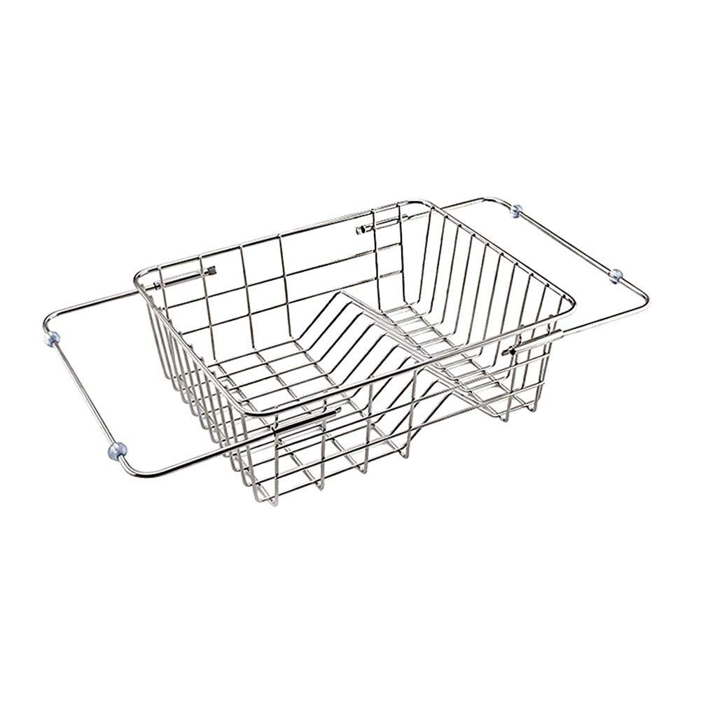 Dish Rack,SHZONS Stainless Steel Over The Sink Dish Drying Rack Draining Rack Rustless Storage Rack Water Draining Colander Strainer