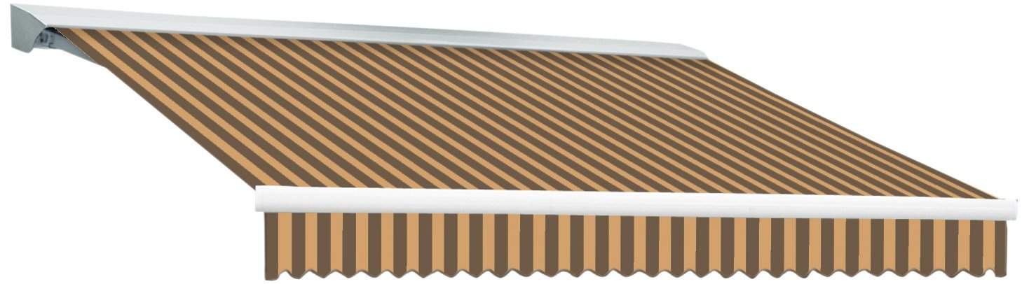 Awntech Destin-LX with Hood Left Motor/Remote Retractable Awning, 8-Feet, Brown/Tan