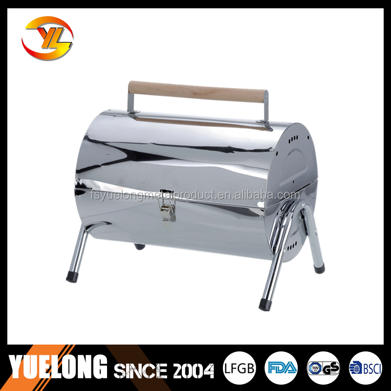 YL1017C# Camping useful portable gas bbq grill with barrel stoves