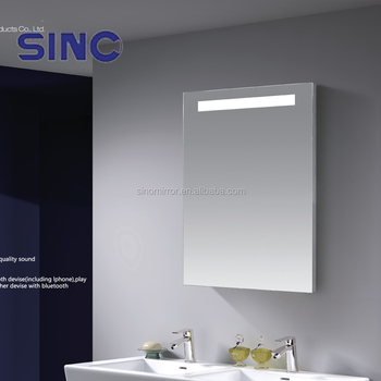 Sandblasted Mirror Designs LED Shower Mirror For Bathroom