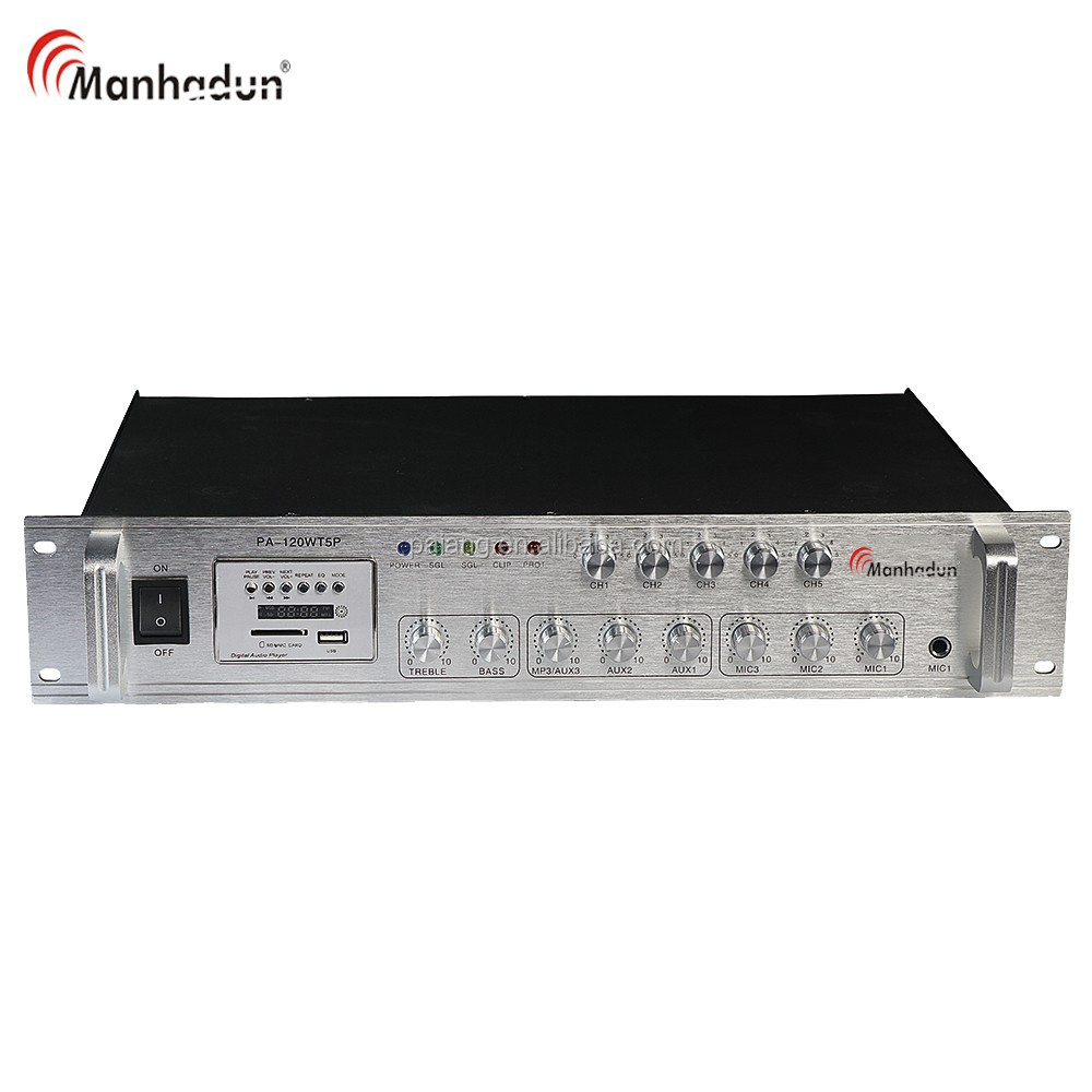 120w desktop amplifier with USB/SD/ FM redio PA power mixer professional amplifier