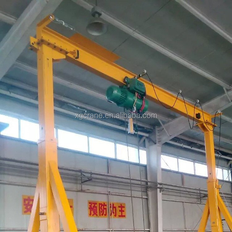 Small Movable Gantry Crane With Electric Hoist