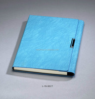 promotional notebook PU leather 3ECT Notebook with 80 sheets notebook paper