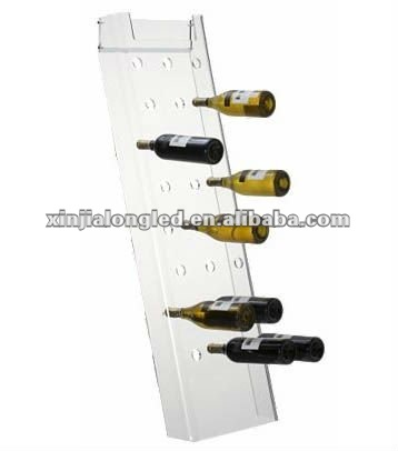 Clear Light Weight Acrylic Leaning Wine Rack Acrylic Wine Store and Display Stand