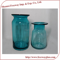 wholesale large tall spraying colored clear glass bud vases