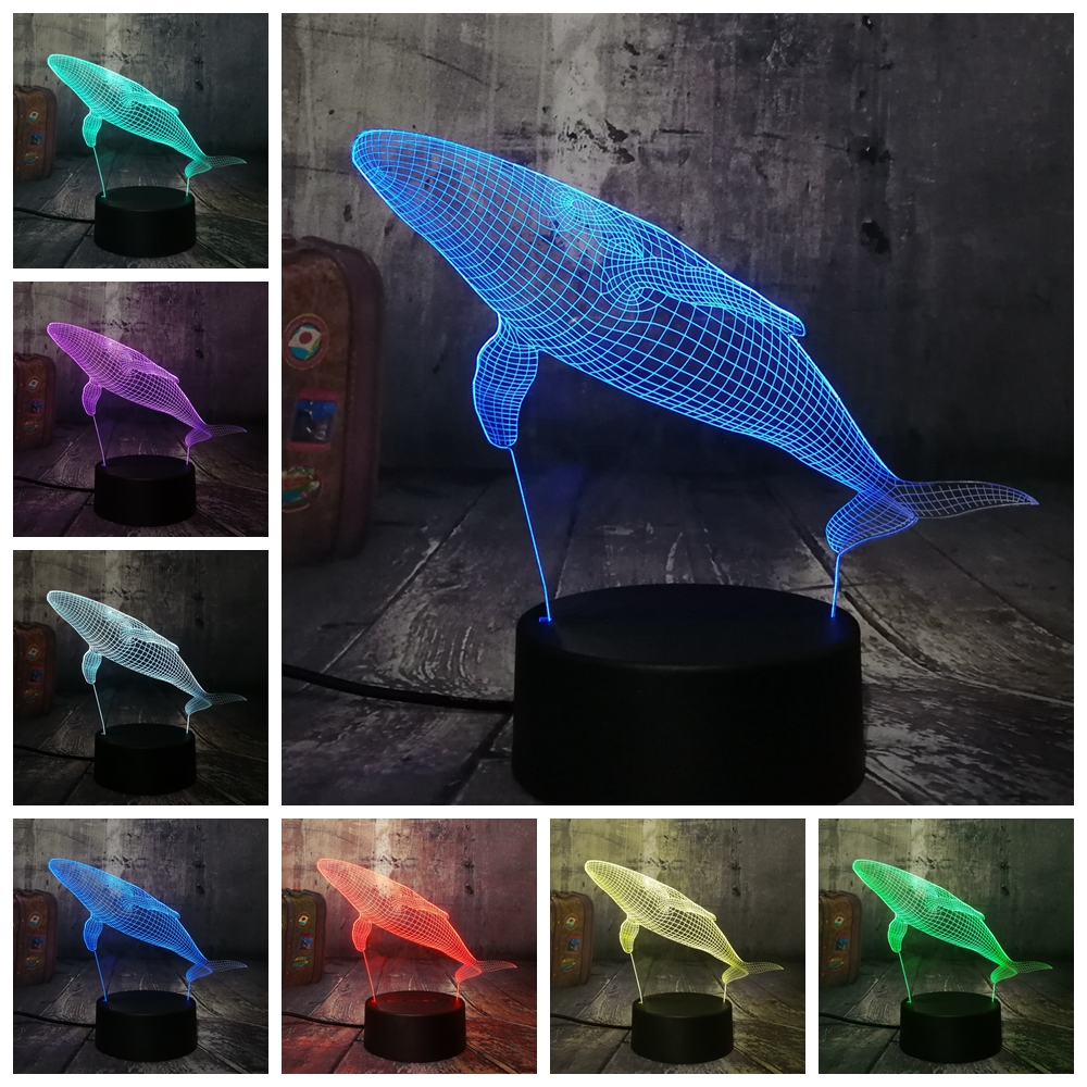 Remote Control Animal Horse 7 Colors Change RC Remote Control illusion Mood Desk Table Night Light Child Home Bedroom Decor