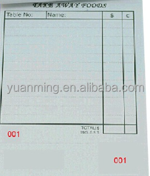 paper sample invoice book bill book printing with fast delivery