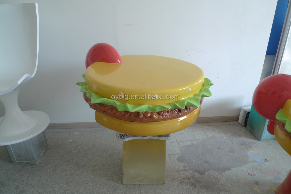 Fiberglass hamburger sculpture fast food decorations buy for Fast food decoration
