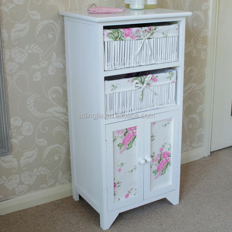 Unidad con armario ba o gabinete de almacenamiento cesta for Gabinete de almacenamiento de bano de madera