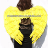yellow large feather angel wings for party