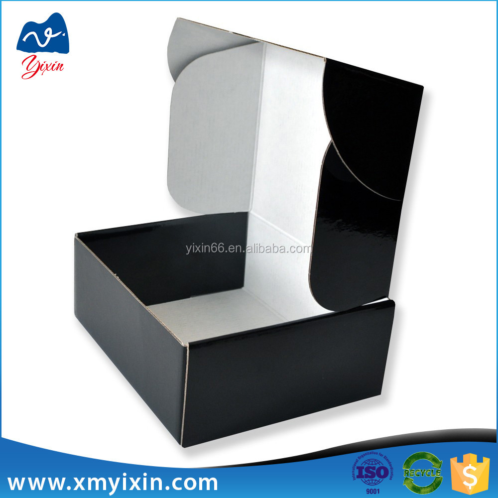 Packaging manufactures black cardboard boxes