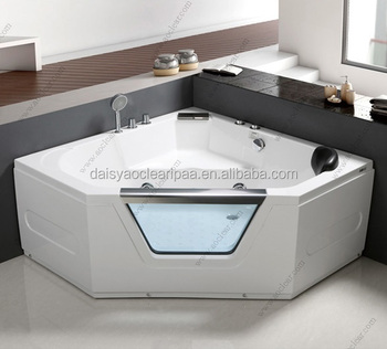 Awesome Triangle 52 Inch Custom Made Glass Bathtub With Low Price