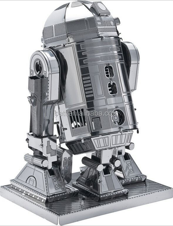 Hot selling R2-D2 robot shape 3d metal puzzle