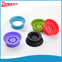 Wholesale Colorful Coffee & Tea Cup Lids Bottle Cover 100% Food Grade Silicone Made