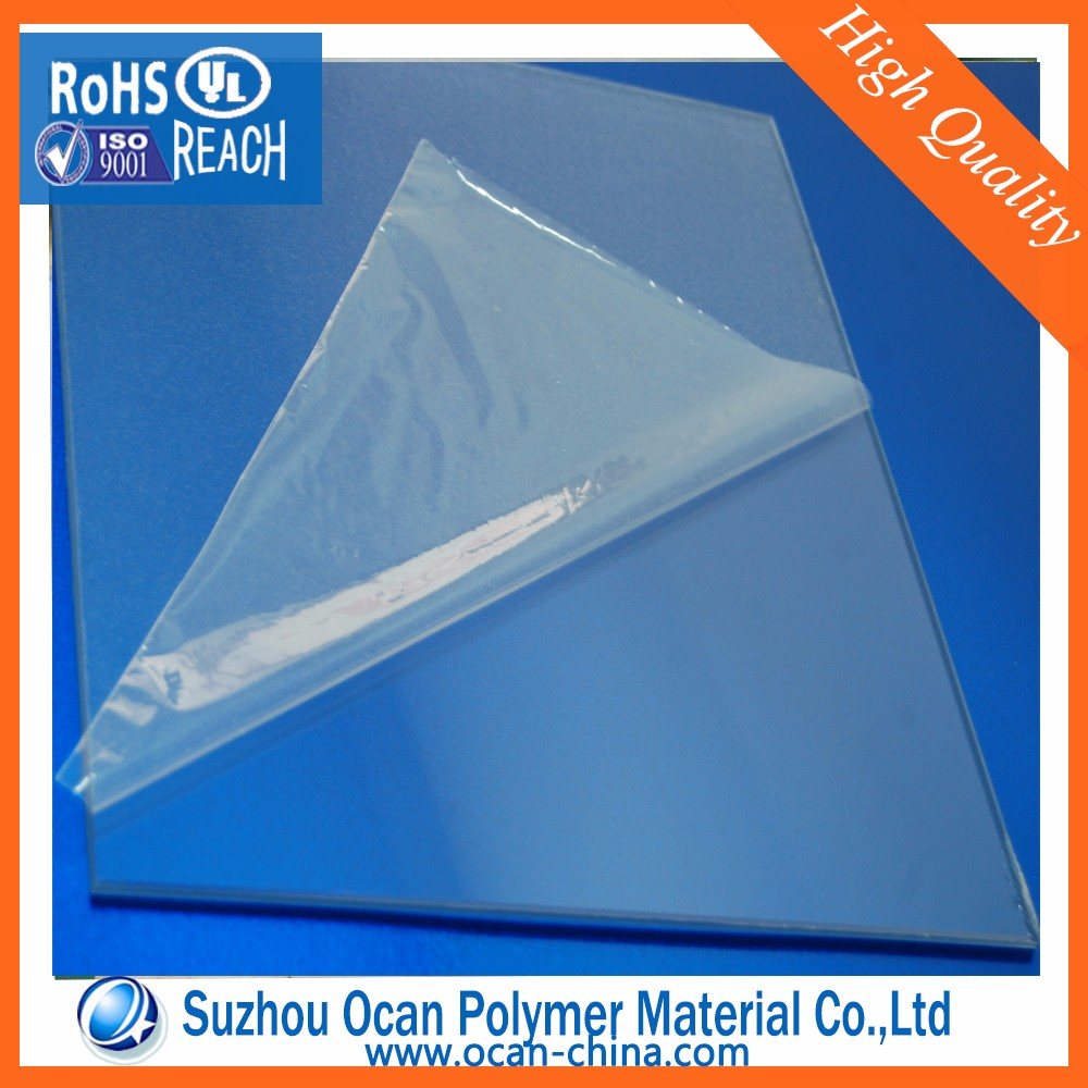 3*4, 3*6 Clear PVC Sheets+2PE Film Masking for India Market