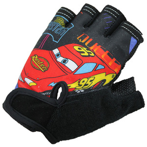 Factory custom elastic half-finger bicycle gloves colorful cheap kids cartoon sports gloves