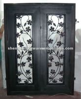 Elegant Iron Double Arts and Crafts Door