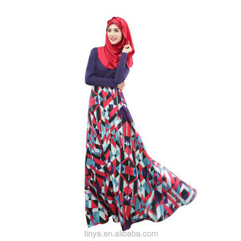 2016 New muslim jubah floral dress modern islamic clothing