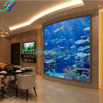 haijing acrylic curve home wall aquarium buy wall aquarium home aquarium wall hanging aquarium. Black Bedroom Furniture Sets. Home Design Ideas