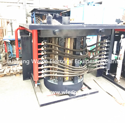1T Steel Shell IF Induction Aluminium Melting Furnace