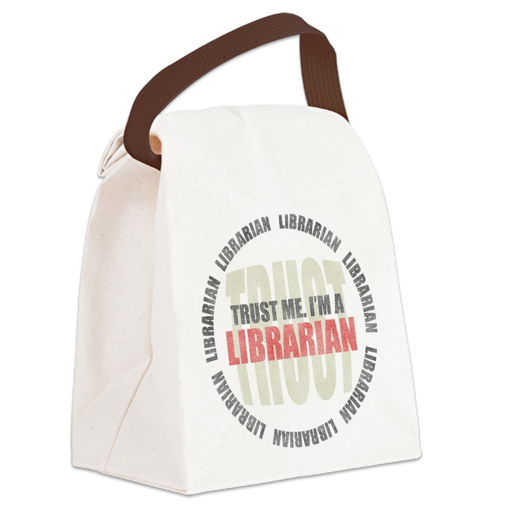 70b61f7590 Get Quotations · CafePress - Trust Librarian Canvas Lunch Bag - Canvas  Lunch Bag with Strap Handle