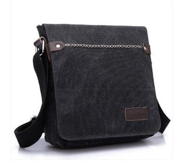 c930ea233c98 Men s Vintage Canvas Leather Satchel School Military Shoulder Bag Messenger  Bag